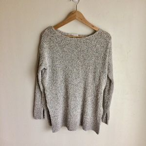 H&M's Tweed Cream Scoop Neck Sweater Size SMALL A